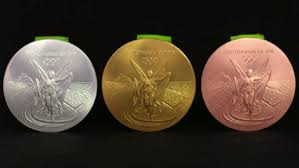 Gold, silver and bronze medals from the Rio 2016 Olympics